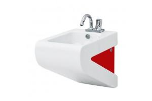 Підвісне біде ArtCeram La Fontana, red white (LFB0010151)
