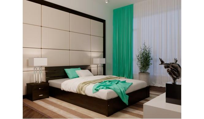 Двоспальне ліжко НеоМеблі Лагуна з підйомним механізмом 140х200 (NM42)