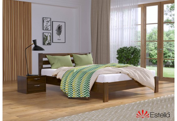 Двоспальне ліжко Естелла Рената Люкс 140x200 буковий масив (EST-16)