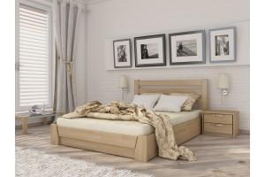 Двоспальне ліжко Естелла Селена з підйомним механізмом 180х200 буковий щит (LP-04)