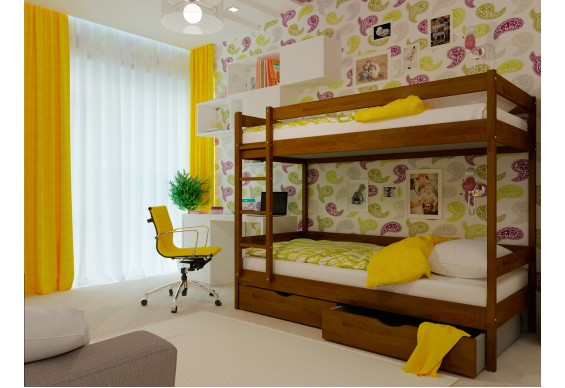 Двоярусне ліжко НеоМеблі Твікс 90х200 (NM34/200)