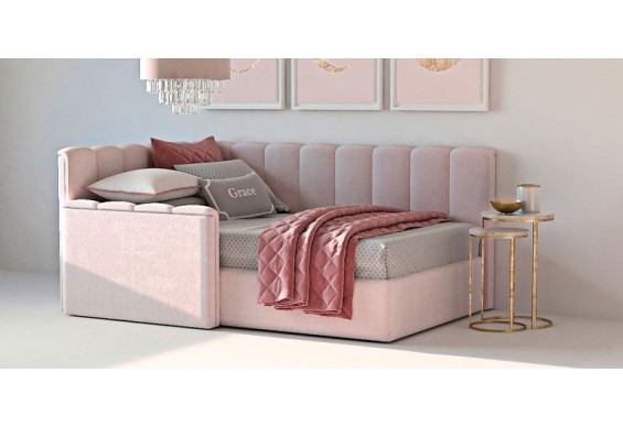 Односпальне ліжко WoodSoft Valencia 80x190 (Valen80190)