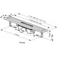 Трап Ravak Runway 950мм (X01390)