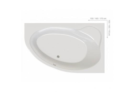 Ванна Ravak Asymmetric II 170x110 R (C931000000)