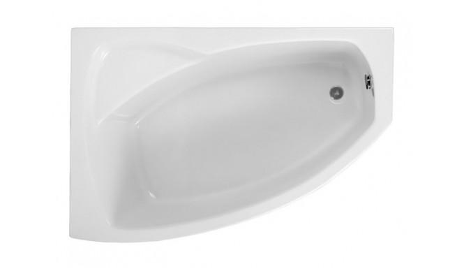 Ванна Polimat Frida асиметрична 140х80, L + ніжки (00270)