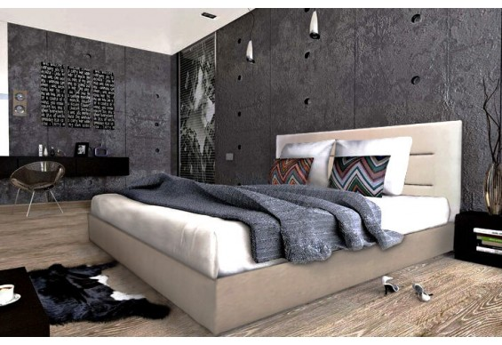 Двоспальне ліжко ТМ Віка Горизонт з підйомним механізмом 160x200 + матрац (GR160)