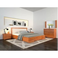 Двоспальне ліжко Арбор Древ Регіна Люкс з підйомним механізмом 160х200 сосна (RLS160)