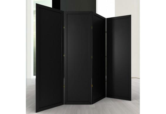 Ширма ДекоДім Економ на 4 секції 200х200 см, чорна (EBL-10)