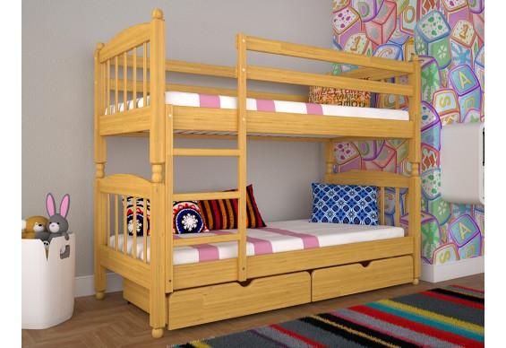 Двоярусне ліжко ТИС Трансформер 3 80x190 дуб (TS17)