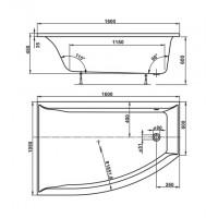 Ванна Vagnerplast Veronella Offset 160x105 см, права (VPBA160VEA3PX-01)