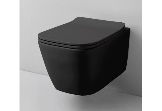 Підвісний унітаз ArtCeram A16 THE. RIMLESS, glossy black (ASV0030300)