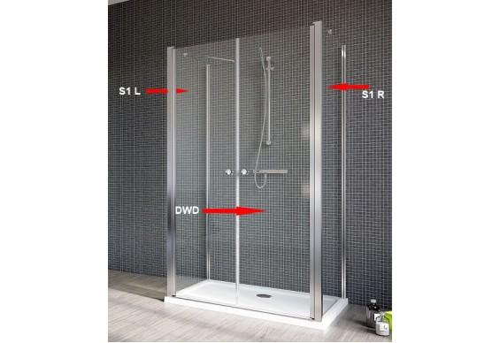 Двері для душової кабіни Radaway Eos II DWD+2S 90, прозоре (3799401-01)