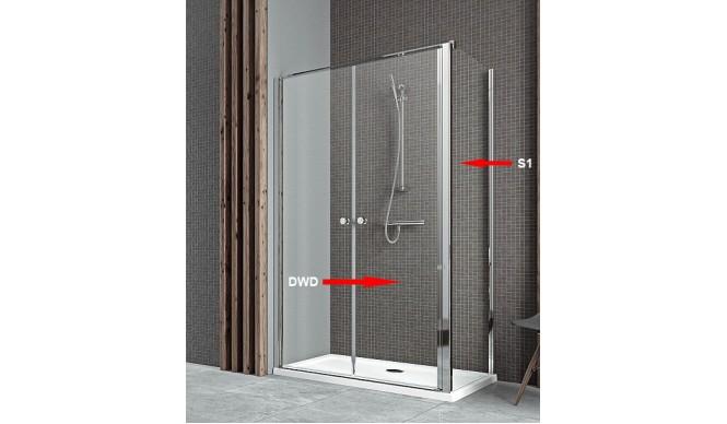 Двері для душової кабіни Radaway Eos II DWD+S 80, прозоре (3799490-01)