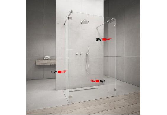 Фронтальна частина душової кабіни Radaway Euphoria Walk-in W4 90 (383141-01-01)