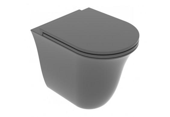 Унітаз підлоговий GSG Flut 52,5 см Smart Clean matt Ash (FLWC01021)
