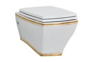 Підвісний унітаз ArtCeram Jazz, gold stripes (JZV0010111)