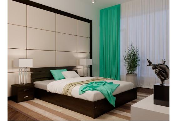 Двоспальне ліжко НеоМеблі Лагуна з підйомним механізмом 160х200 (NM43)