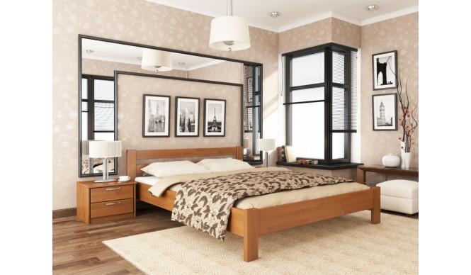 Двоспальне ліжко Естелла Рената 140х200 буковий щит (DV-31)