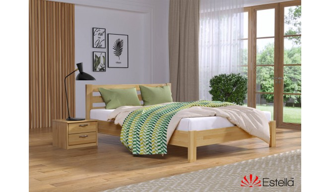 Двоспальне ліжко Естелла Рената Люкс 160x190 буковий щит (EST-17)