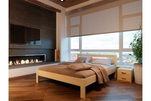 Двоспальне ліжко НеоМеблі Соната 180х200 (NM17/200)