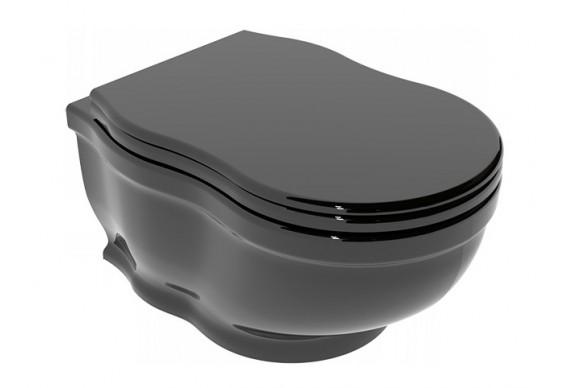 Підлоговий унітаз GSG TIME 54 см glossy Black (TIWCSO002)