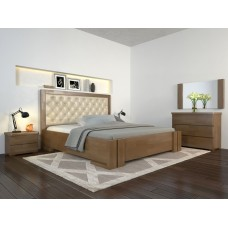 Двоспальне ліжко Арбор Древ Амбер ромб 140х200 бук (DA140)