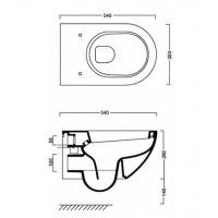 Підвісний унітаз Catalano Sfera 54 NewFlush Sospeso (1VSF54R00)