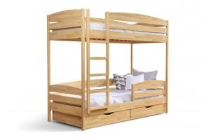 Двоярусне ліжко Естелла Дует 90х200 буковий масив (DEPL-04)