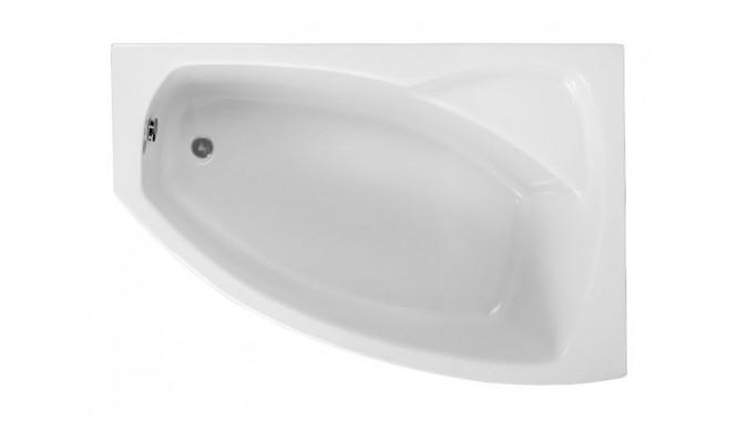 Ванна Polimat Frida асиметрична 140х80, R + ніжки (00268)