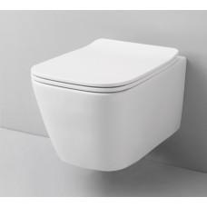 Підвісний унітаз ArtCeram A16 THE. RIMLESS, matt white (ASV0030500)