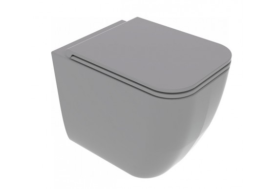 Унітаз підлоговий GSG BRIO 52,5 см Smart Clean matt Cement (BRWC01020)