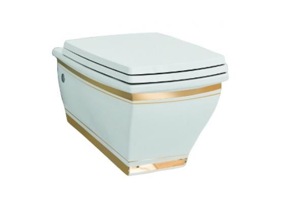 Підвісний унітаз ArtCeram Blues, gold stripes (BUV0010111)