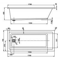 Ванна Vagnerplast Cavallo 170x75 см (VPBA170CAV2X-01)