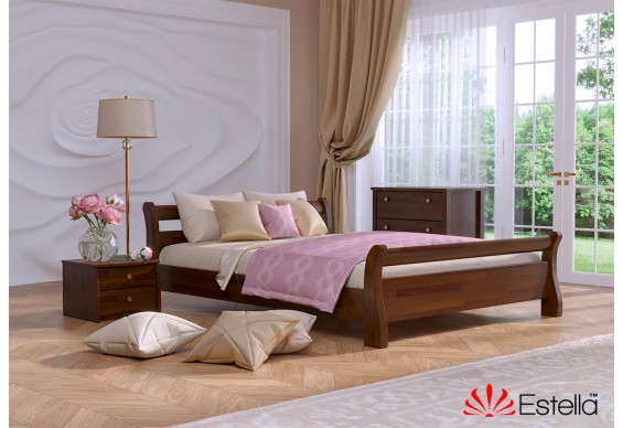 Двоспальне ліжко Естелла Діана 140х190 буковий щит (DV-07.2)