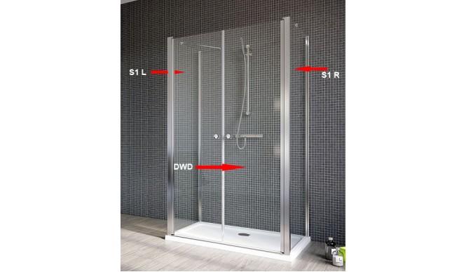 Двері для душової кабіни Radaway Eos II DWD+2S 100, прозоре(3799402-01)