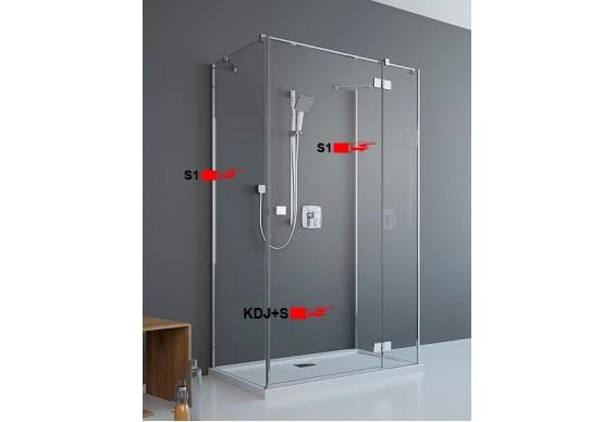 Двері для П-подібної душової кабіни Radaway Essenza New KDJ+S 80 праві (385021-01-01R)