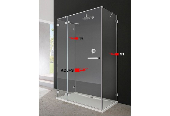 Бокова Стінка для душової кабіни Radaway Euphoria S1 90 (383050-01)