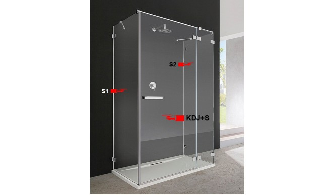 Двері для душової кабіни Radaway Euphoria KDJ+S 110 праві (383023-01R)