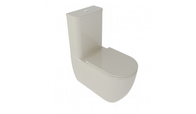 Унітаз моноблок GSG LIKE 69 см Smart Clean glossy Pergamon (LKMBL013)