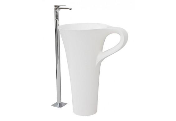 Підлоговий умивальник ArtCeram Oneshot cup, white (OSL0040100)
