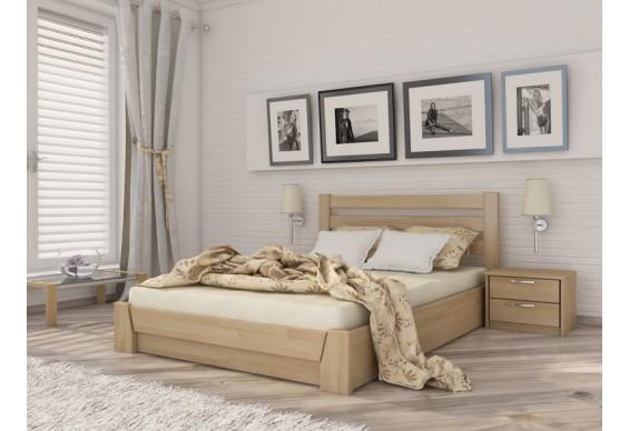 Двоспальне ліжко Естелла Селена з підйомним механізмом 140х200 буковий масив (LP-06)