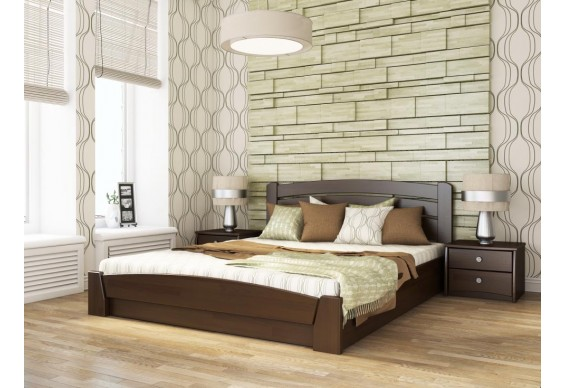 Двоспальне ліжко Естелла Селена Аурі з підйомним механізмом 180х190 буковий щит (DV-21.2)