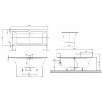 Ванна Villeroy&Boch Squaro Edge 160x75 (UBQ160SQE2DV-01)