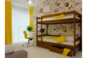 Двоярусне ліжко НеоМеблі Твікс 90х190 (NM34)