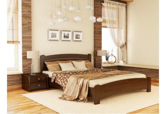 Двоспальне ліжко Естелла Венеція Люкс 160х190 буковий масив (DV-17.2)