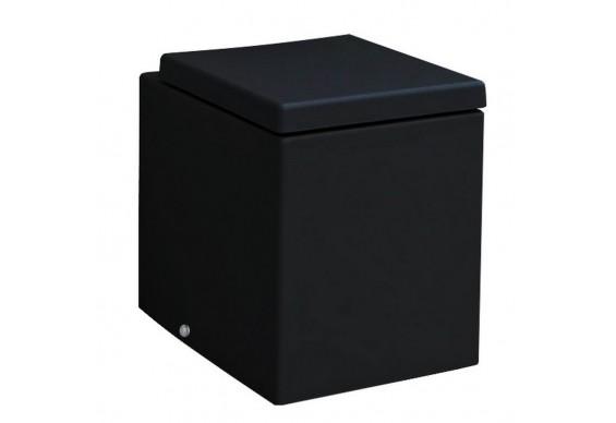 Підлоговий унітаз ArtCeram Block, glossy black (BKV0020300)