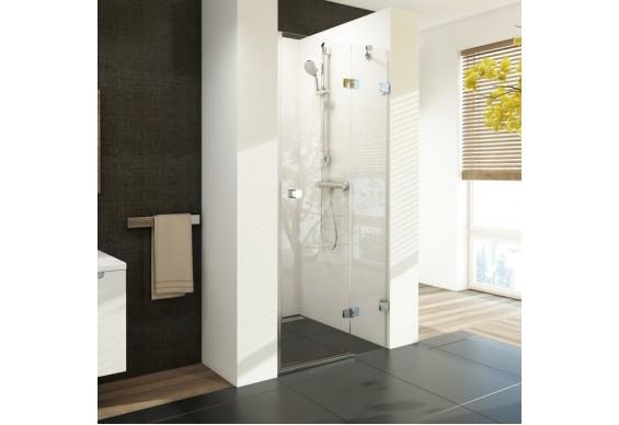 Двоелементні душові двері Ravak Brilliant BSD2-100 A-R хром + скло Transparent (0UPAAA00Z1)