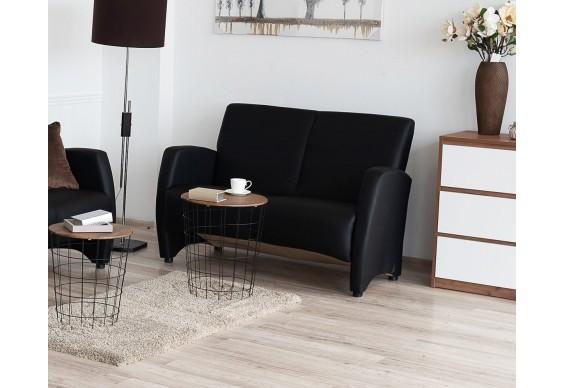 Прямий двухмістний диван Embawood Сінді, чорний (EW-32)