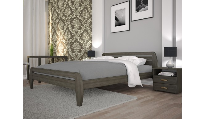 Двоспальне ліжко ТИС Нове 1 140x200 дуб (TYS228)
