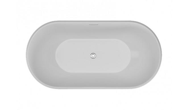 Ванна Polimat UZO 160х80 чорна + ніжки (00336)